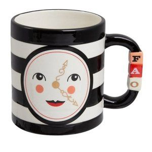 NWT FAO Schwartz Holiday Clock Ceramic Mug